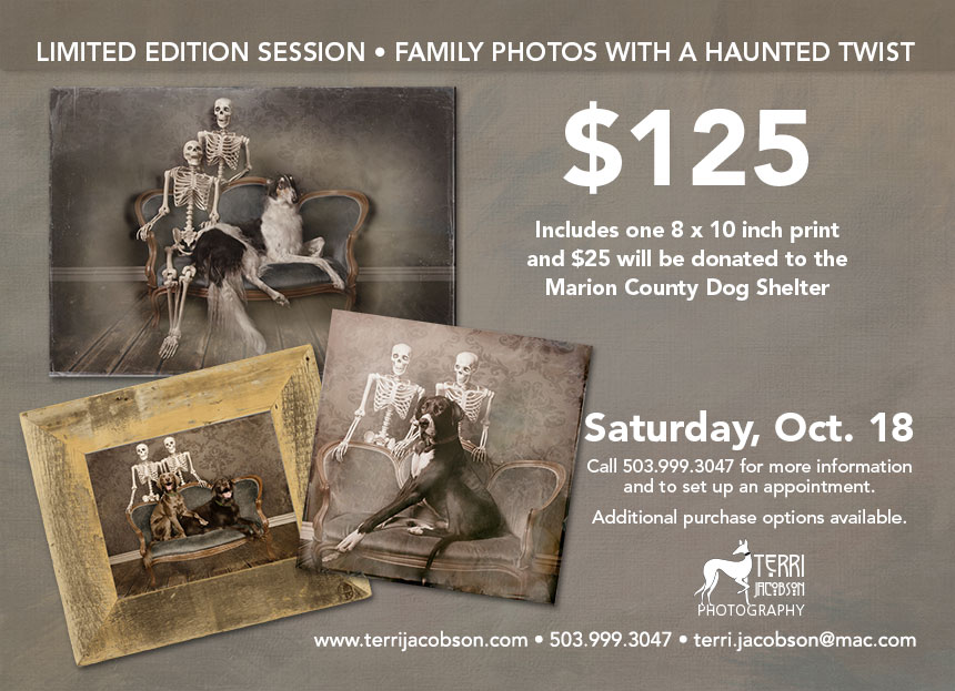 Family photos with a haunted twist