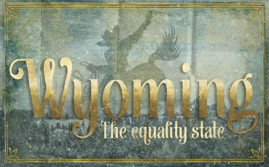 An original travel postcard—Wyoming