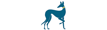 Terri Jacobson logo teal dog